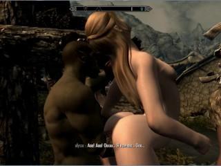 Orc fucks sexy blonde tits...