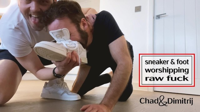 sweaty sneaker and foot worship and rough hard raw sex