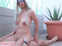 sexy blonde milf cowgirl