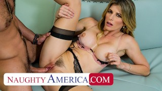 Naughty America - Blonde MILF Cory Chase wants cock and Lucas is there to fuck her!!