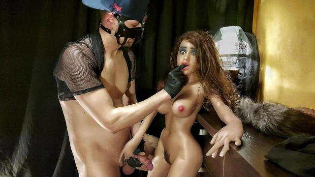 ROUGH ANAL SEX WITH DOLL