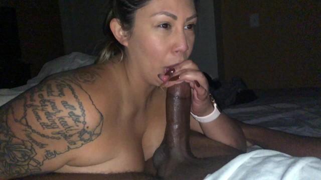 Amateur;Babe;Brunette;Blowjob;Interracial;Teen (18+);College;60FPS interracial, amateur-interracial, latina, bj, lowjob, sexy, college-babe, cum-mouth