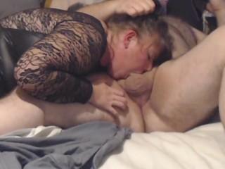 Milf choked deep throat blow job wife chubby...