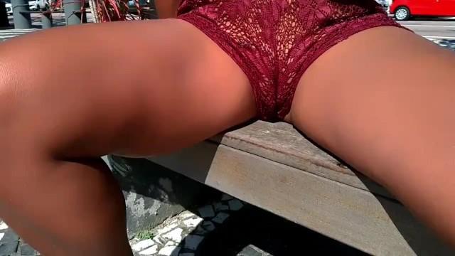 Hot girls in shorts pantie peek See Through Shorts No Panties Public Pornhub Com