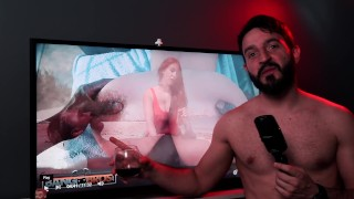 BANGBROS - Charlie Gets Into Hot Water, Lifeguard Valerie Kay Saves The Day (REACTION)
