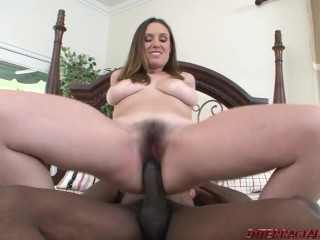 Rucca with her Big Natural Tits takes BBC Hard and Deep
