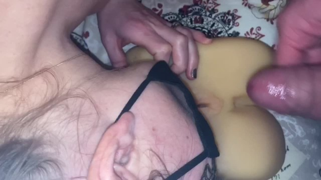 #Happy V-Day2021 POV Red Hot Fucking, Flesh Toy Related MFF Threesome & Cum Kissing 3-Tongue Action 12