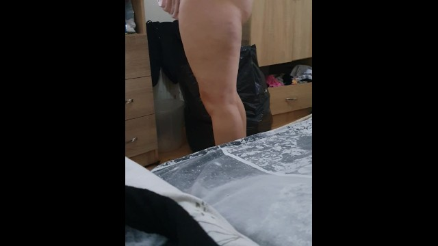 stepmom pulled off panties in front of stepson & fuck in front of stepdaughter