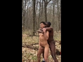 Risky public the woods...
