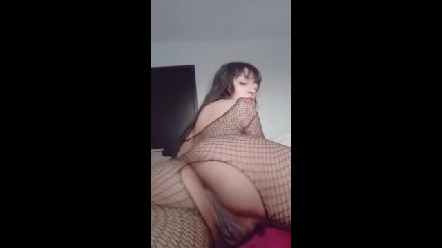 real HENTAI prostitute in fishnet tights SEXY STRIP 19