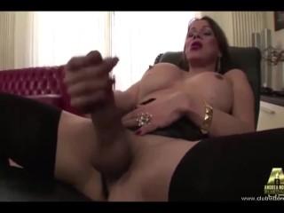 Pornostar fucks a big huge white shemale cock...