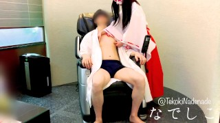 While Slowly Removing His Bathrobe I Torment His Nipples