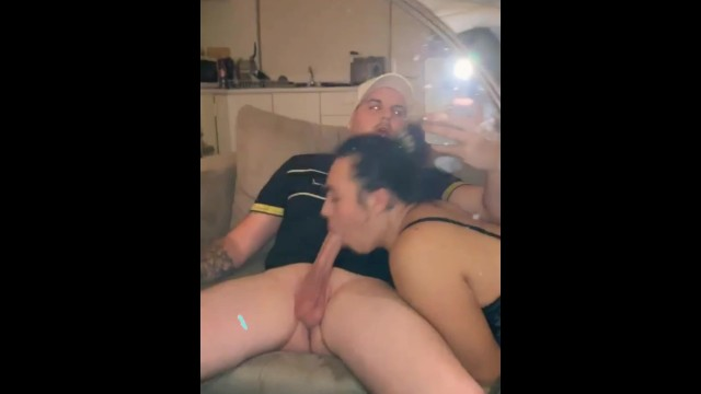 Sexy Brunette gf loves sucking and riding huge white cock pov 5