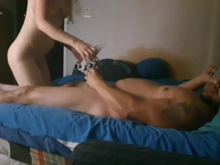 Hubby and friend fuck wife again