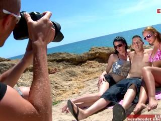 Hot two in bikinis strange guys...