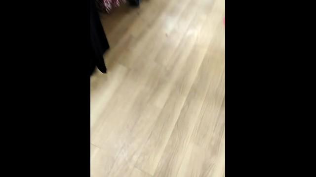 Quick Public Creampie in the Supermarket Fitting Room 16