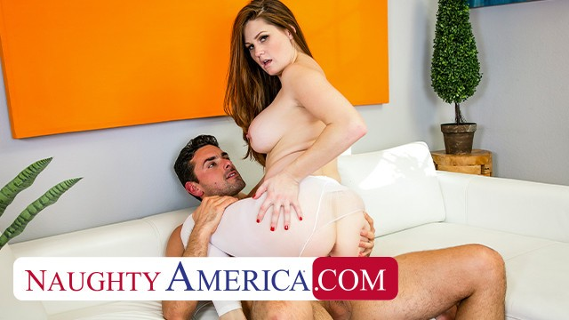 Naughty America - Personal Trainer gives Allison Moore a cream filled workout
