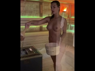 Jenifer jane in Sauna ritual