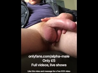 Soft cock english dad wanking cumming scally chav...