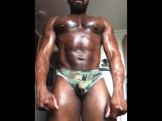 Oiled up flex...