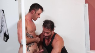 "MenOver30 - I Said ""Put Your Cock Right Here"" Through Glory Hole"
