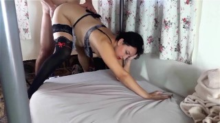 Hot fuck! The girl can barely cope with the pressure of her boss!