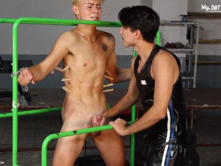 Get naughty blond boy gets and bareback fucked...
