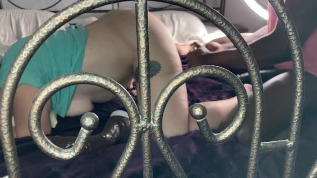 Milf takes a dildo and her neighbor's BBC! 3