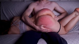 Spanking My Wife's Big Ass For Bad Behavior