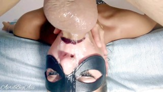 """Extreme deep throat """"real"""" inverted, rough and gag extreme sloopy !!! -aprilbigass-"""