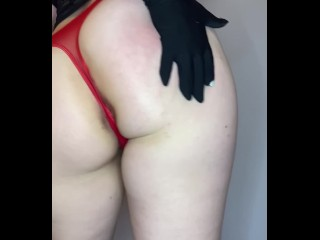 From lady to whore - seductiveSexy thick soft punk goth PAWG dances long, slow burlesque striptease