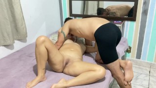 Amateur porn with beautiful Brazilian milf with cumshot in the ass