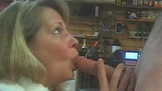 Mature Daizy Deepthroats my Hard Cock and Swallows all my Young Cum