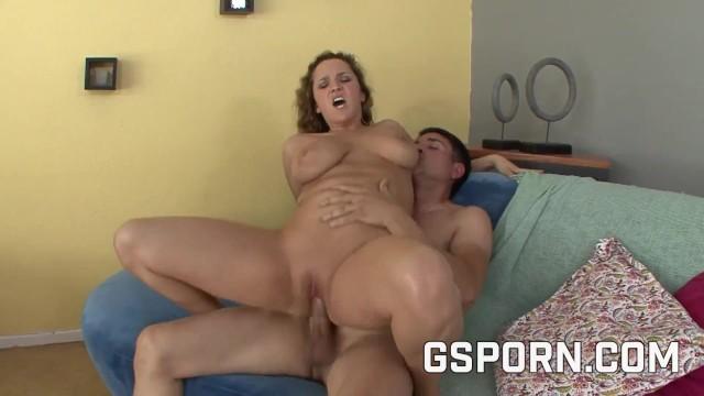 Hot natural big boobs milf fucked hard with a warm cum on big tits 20