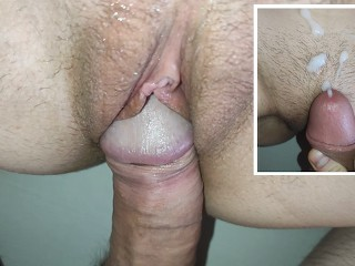 Nice Slow CLOSE UP Fuck in a really Tight Pussy - Cum At The End
