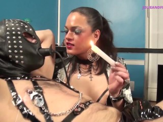 Slavemaster and his slave working hard in office...