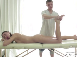 Only3x Presents - Maddie and Aleksey in Natural Boobs - Cream Pie scene - TRAILER - by Only3x