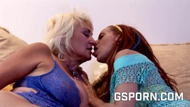 Big boobs lesbians milf and madure  50 enjoy of big dildos in their pussies