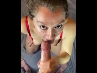 Shy curious girl next door takes her first facial retro porn