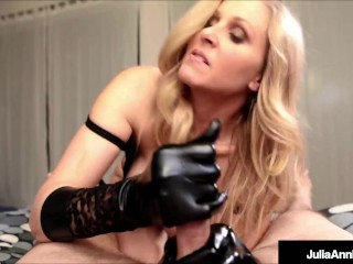 Cougar Queen Julia Ann Strokes Your Cock With Soft Gloves!