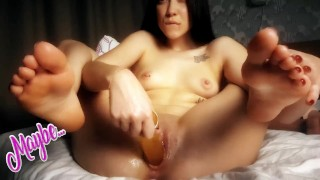 beautiful asian fucked herself with all toys and finished with a squirt