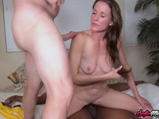 Naughty Fit MILF Sofie Marie Rides BBC In Hardcore Threesome