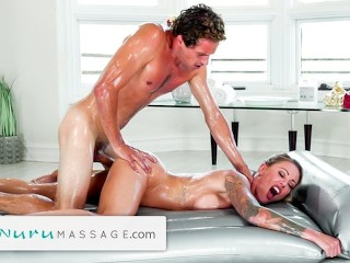 NuruMassage Hot MILF Takes Care of All Stepson's Impurity Auras With A Torrid Massage
