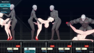 Blondes Gangbanged By Alien Zombies