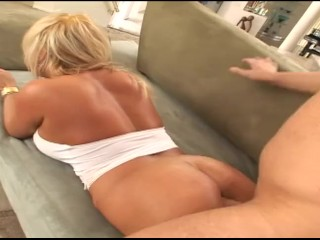 Blonde milf with huge tits and pierced nipples...