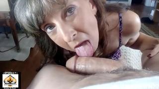 Amateur Cougar Blowjob