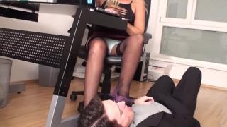 milf mistress office foot domination