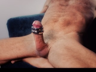 Vinny Kojack Weight Trains His Hard Throbbing Cock And Cums All Over Himself Many Times