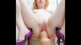 Perfect amateur Redhead milf Dani Rae Diamond pussy stretching and squirting