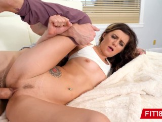 FIT18 - Avery Moon - Skinny and Flexible Yoga Instructor Gets Creampie During Casting